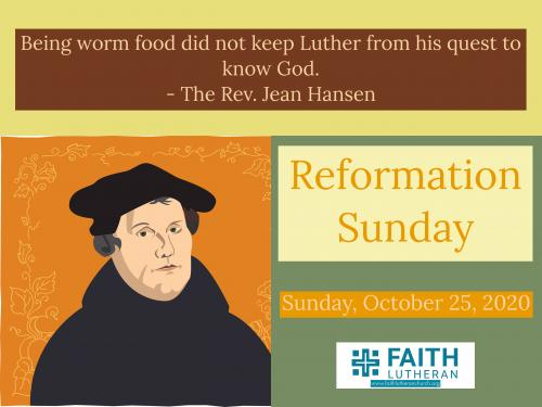 Martin Luther, Reformation, Sermon, Pastor Hansen