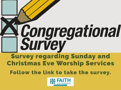 Lutheran Church Fairlawn Ohio Christmas Events 2020 Church Council is Conducting a Survey | Faith Lutheran Church